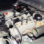 Restored Ford Jeep engine