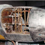 Work on the nose section of a Lockheed TO-1, Navy version of the famed P-80 Shooting Star